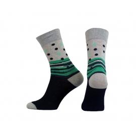 Funny Socks FS671-113  kółka+kreski